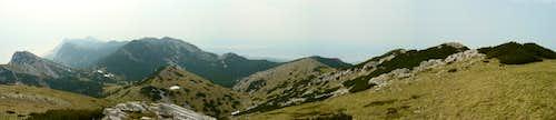 South panorama from Vaganski Vrh