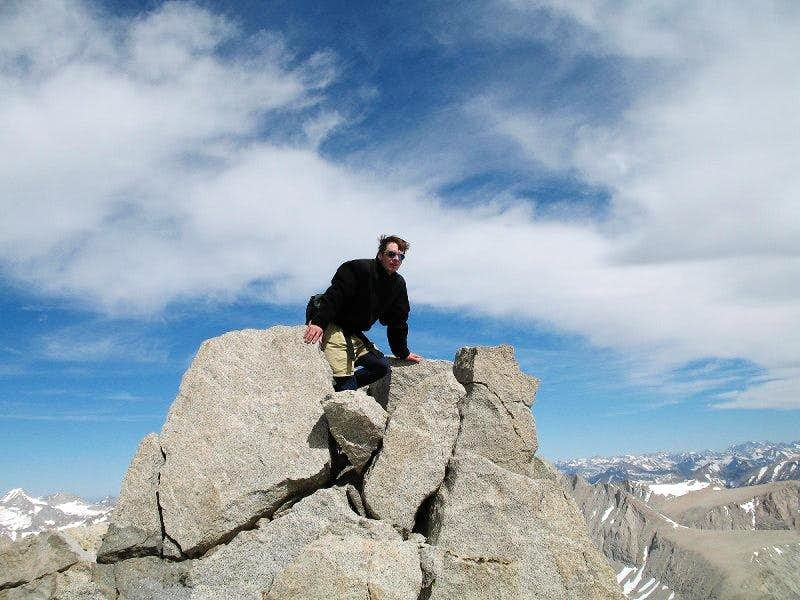 descending tyndall's northwest ridge