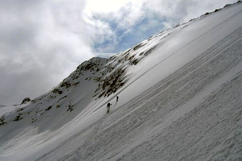 Final slope of Mutterberger Seespitze
