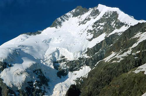 Piz Bernina and Biancograt