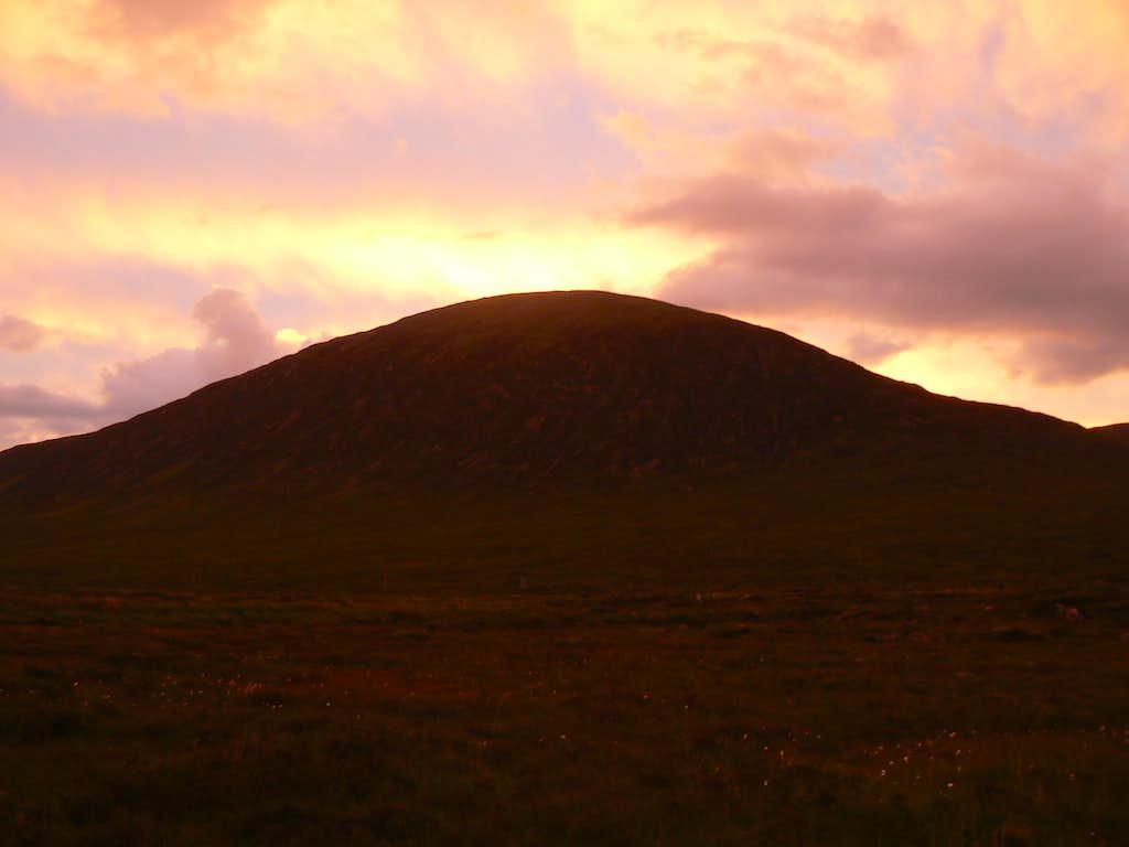 Sunset over Beinn a'  Chrulaiste