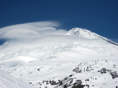 Elbrus in clouds