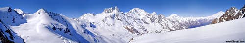 Ski-tour in Adil-Su with Caucasus panorama around...