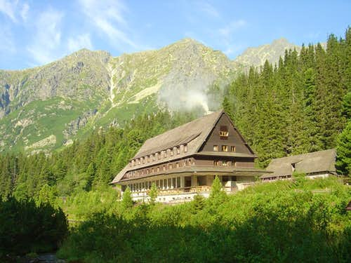 The mountain hotel at Popradské pleso