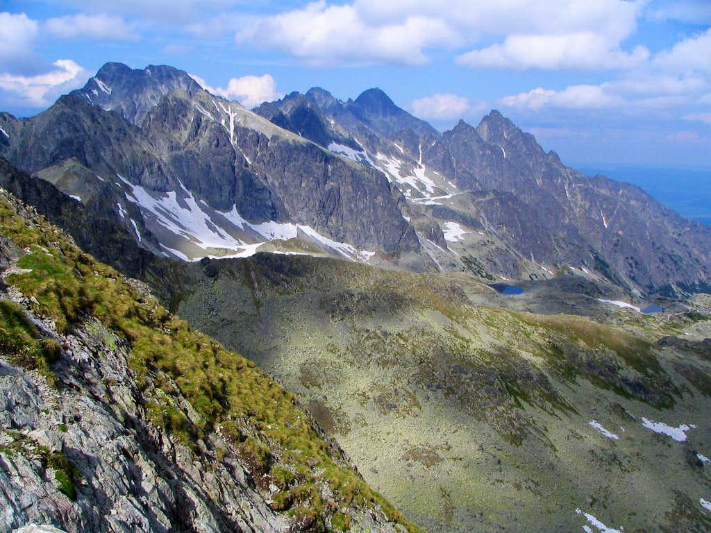 High Tatras from Prielom Pass