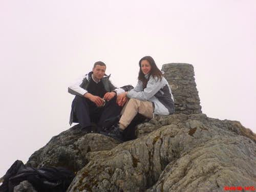 On the summit of Ben Lawers
