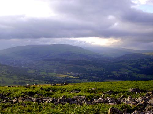 The Black Mountains In Cloud
