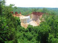 View of Providence Canyon from the Rim Trail