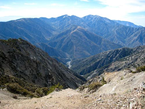Looking East from Mt. Baden-Powell Trail