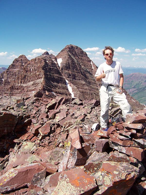Myself on the summit of Lightning Pyramid. <i>-Photo by: Marc Milburn</i>