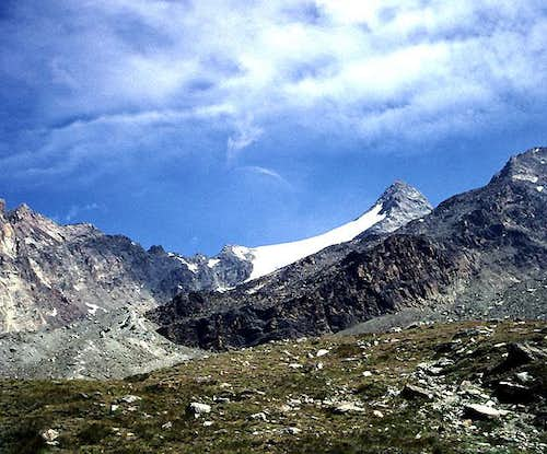 Fletschhorn from near the Weissmies Hut