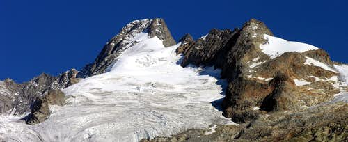 Mont Dolent (3823m) and Mont Grapillon (3576m), south side
