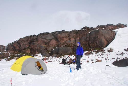 Camp One on Muir Snowfield