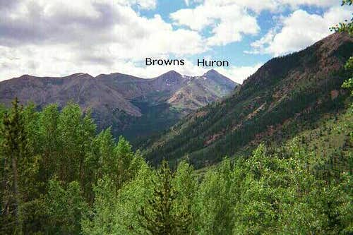 Browns and Huron Peaks from...