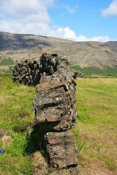 Hrauntun Farm Wall