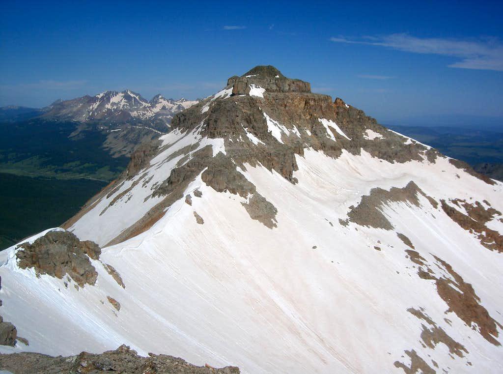 Vermilion Peak from Fuller Peak