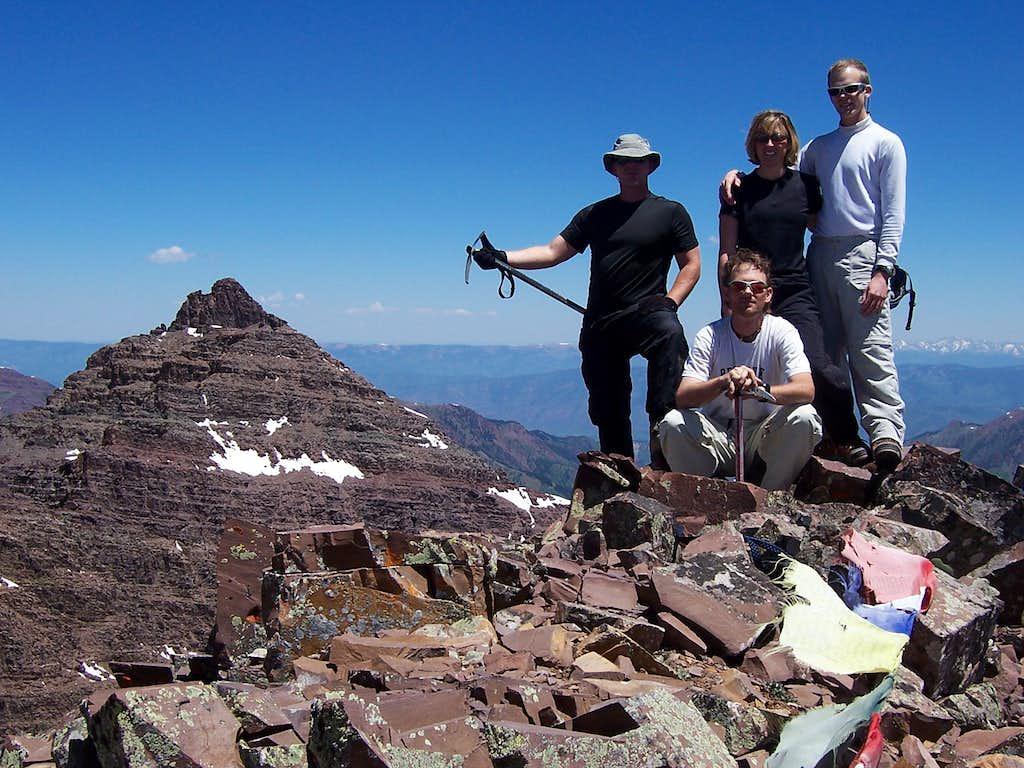 On the summit of Thunder Pyramid