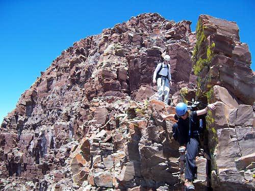 Jamie & Jamie on the traverse