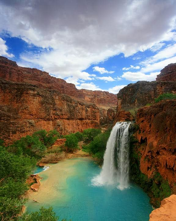 Havasu Falls from the Trail