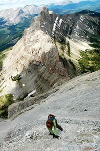 Crowsnest Mountain Scrambling