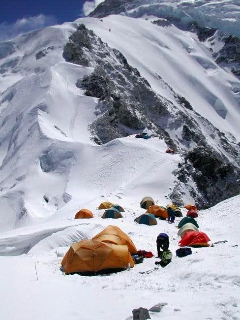 Camp 1 view on NW ridge