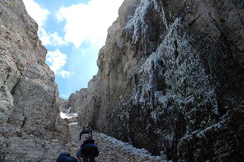 Gully through Second Cliff Band