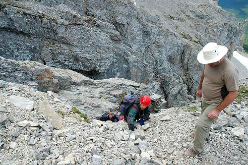 Topping out of the Second Gully
