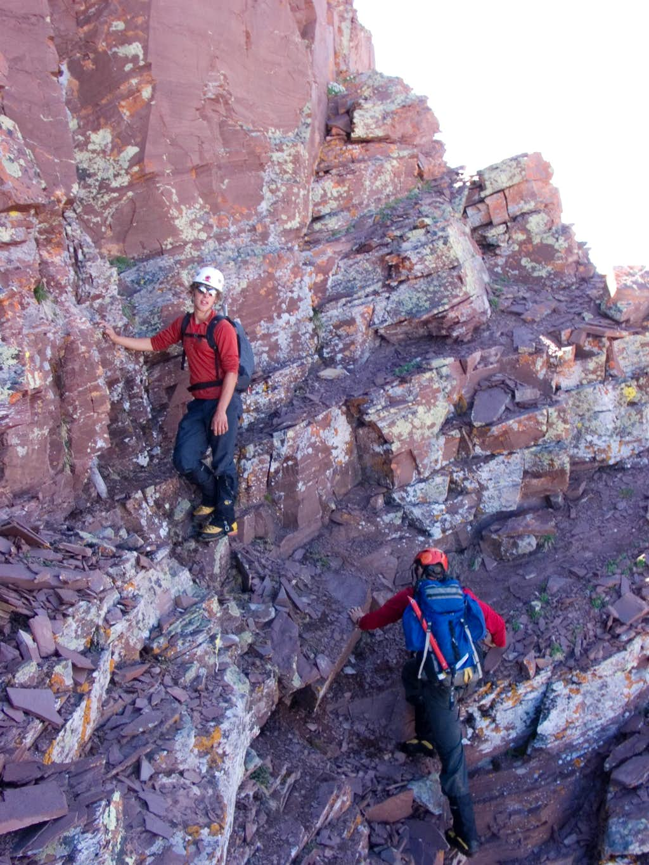 Traversing to North Maroon Peak