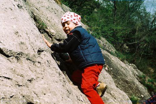 First climbing steps