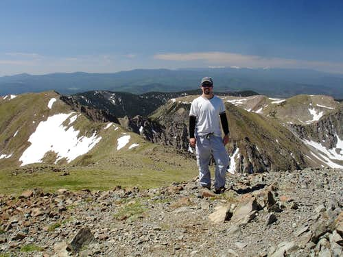 On the summit of Wheeler Peak, NM