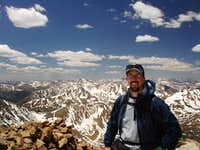 On the summit of Mount Elbert