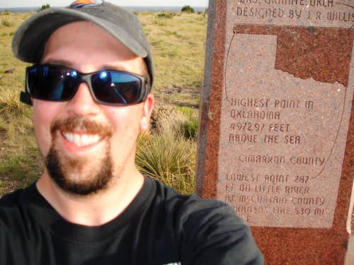 Self-portrait on Oklahoma\'s summit