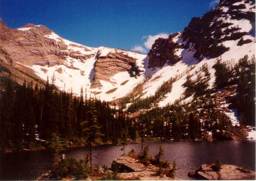 Snowshoe Peak from Snowshoe Lake