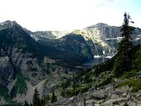 Wanless Lake from Lost Buck Pass