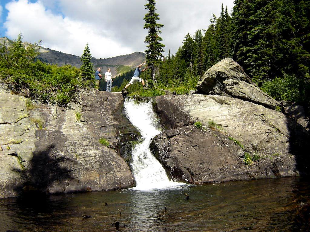 Waterfall Jump at Wanless Lake