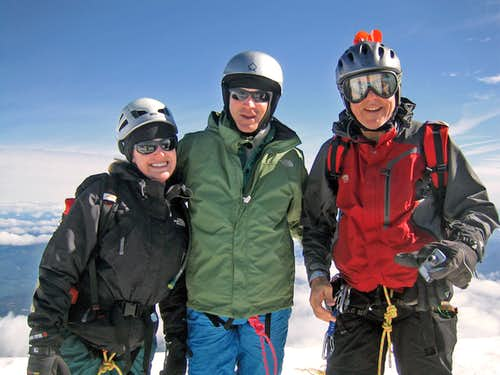 Rudolf, Egan, and Knoll on Mt. Hood