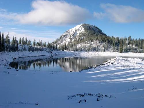 Truax Peak and Crater Lake on...