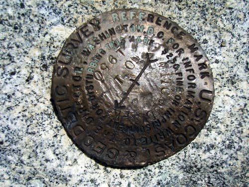 Mitchell Peak Summit Marker