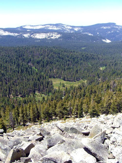 Meadow below Mitchell Peak