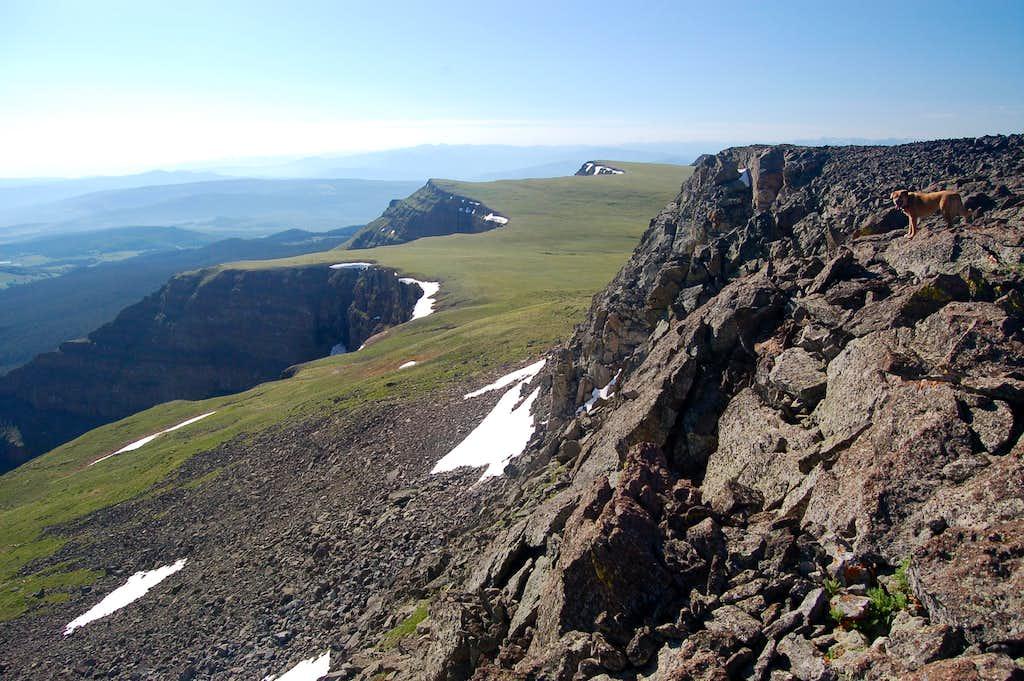 Sopris on top of Flat Top Mountain