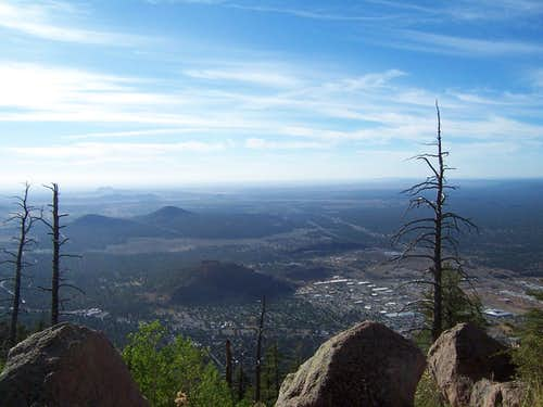 View of Flagstaff from Elden