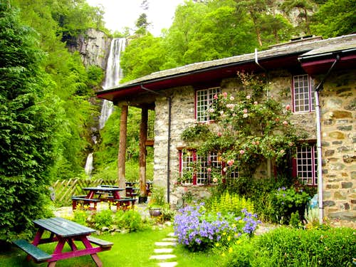The Tea Shop and Waterfall