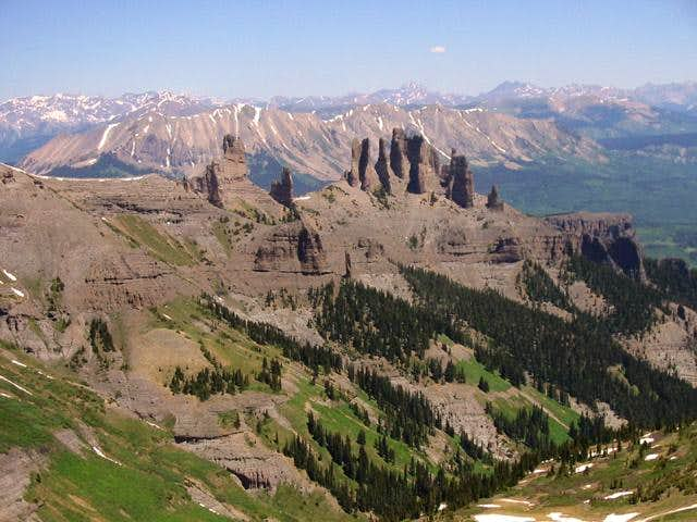 The Castles from Storm Pass....