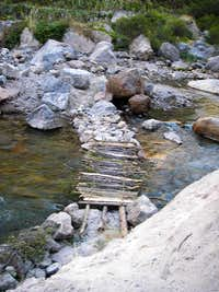 Seasonal Footbridge Over the Mungi River