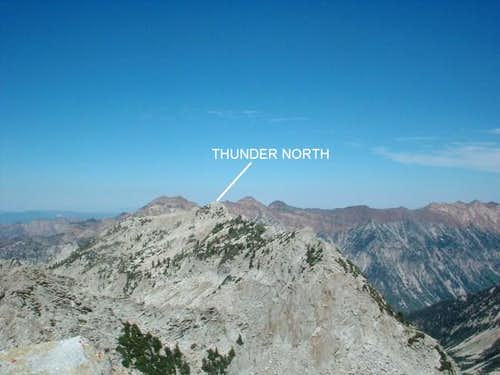 North Thunder as seen from...
