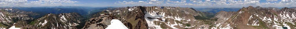360-degree Panorama from Grand Traverse Peak
