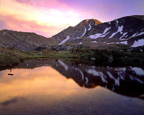 Sunset on Eureka Mt., July...