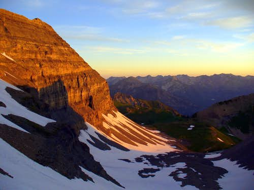 July Ski: Racing Sunrise on Timp
