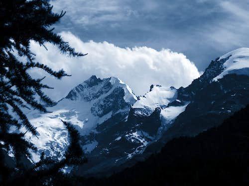 Our way to Bernina on Italian side