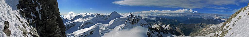 Panorama from Bernina Spallagrat
